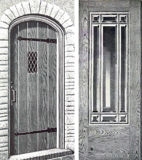& Entry doors of the early 20th century